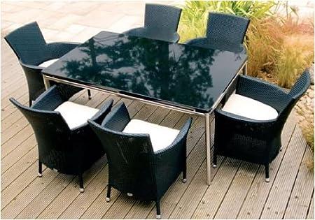 Corsica 6 Seat Rattan Garden Furniture Set with Armchairs ba2e609a01f