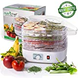 NutriChef Food Dehydrator 5 Tray with Fan, White(PKFD06)