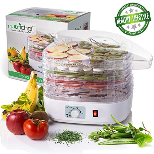 NutriChef Food Dehydrator Machine - Professional Electric Multi-Tier Food Preserver