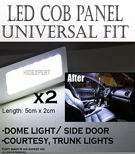 2020 Saturn Vue Awd - ICBEAMER 1 Pair 50mm COB LED Panel High Power Interior Map Dome Door Light Replace Halogen Bulbs Lamp [Color: White]