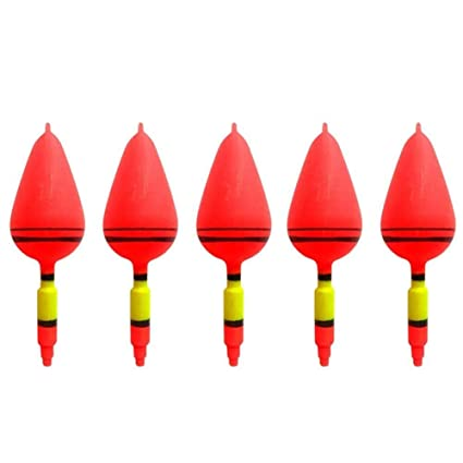 UYTSXFH 5PCS flotadores de Deriva de plástico Flota Vertical Rojo boya Accesorios de Pesca