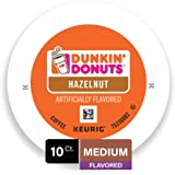 Dunkin Donuts Hazelnut Flavored Coffee K-Cup Pods, for Keurig Brewers, 10