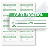 Certification, Polyester with Clear Flap Tag, 140 Labels/Pack, 1.5'' x 0.625''