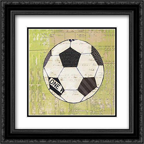 - Play Ball III 15x15 Black Ornate Frame and Double Matted Art Print by Prahl, Courtney