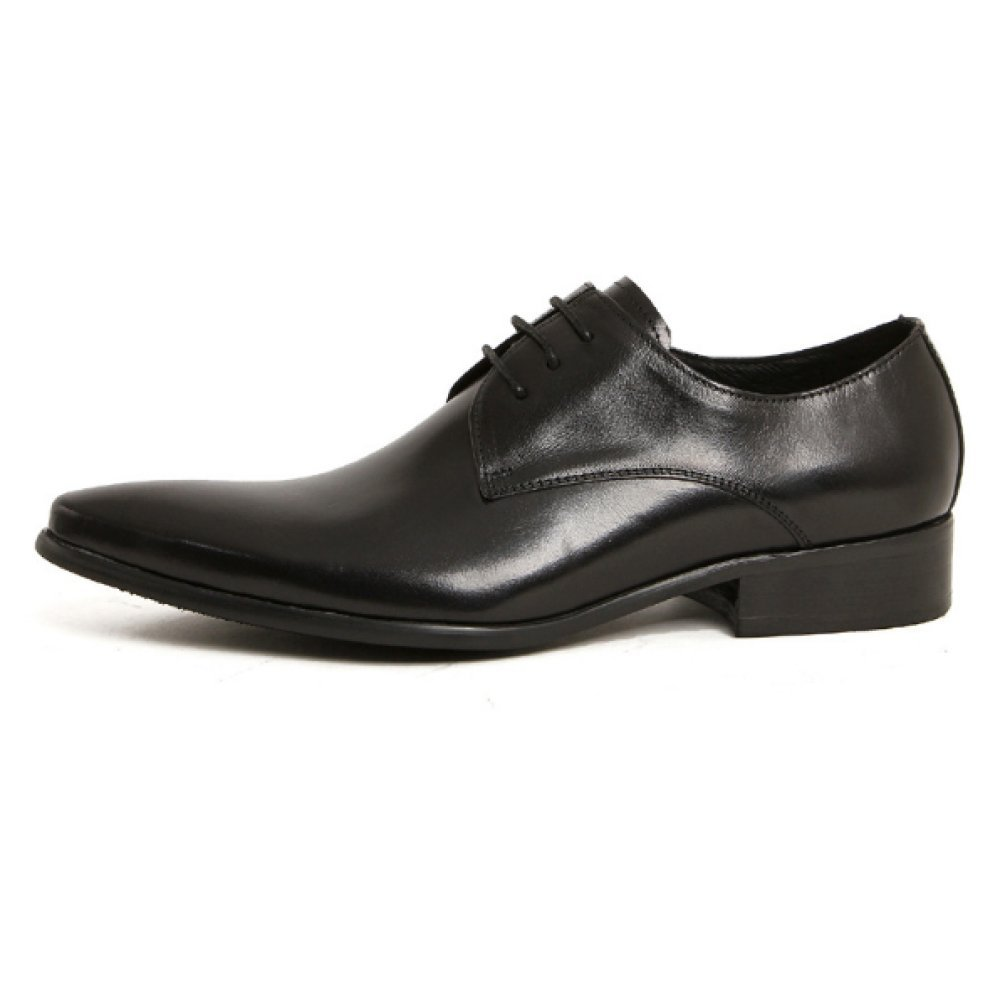 NIUMJ Männer Lederschuhe England Schuhe Spitze Spitze Spitze Schuhe Mode Schnürschuhe Flacher Absatz Niedrige Schuhe Verschleißfest 17bdd4