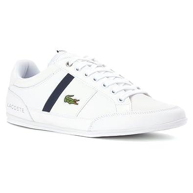 a9d1851c1280 Lacoste Men s Chaymon CR White Dark Blue Sneaker 11 M  Amazon.co.uk ...