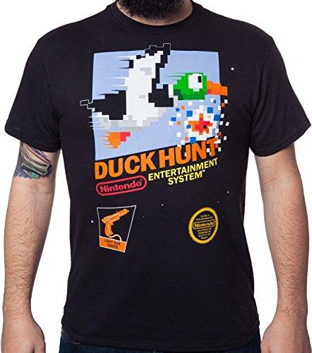 Duck Black T-shirt (Nintendo Men's Duck Hunt T-Shirt Black 3XL)
