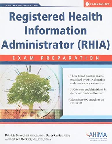 registered health information administrator rhia exam preparation rh amazon com RHIA Certification Schools Registering Patients