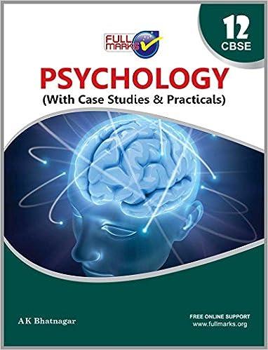 Psychology Class 12 CBSE (2019-20): Amazon in: Full Marks: Books