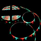 NEW 2018 LED Strip Lights Kit Waterproof – 32.8ft (10M) 600 LEDs SMD 3528 RGB Light with 44 Key Remote Controller, Extra Adhesive Tape, Flexible Changing Multi-Color Lighting Strips for TV, Room