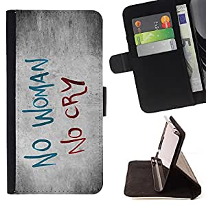 DEVIL CASE - FOR Samsung Galaxy Note 4 IV - Woman Sadness Cry Quote Slogan Heartbrake - Style PU Leather Case Wallet Flip Stand Flap Closure Cover