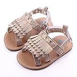 Tonsee Baby Schuhe Neugeborenen Sandalen Schuhe rutschfest Sneakers Quaste Kleinkind ersten Wanderer Sommerschuhe für Babys (11cm, Khaki)