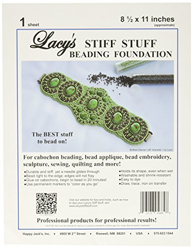 Lacy's Stiff Stuff Beading Foundation for Cabochons, 11 x 8.5
