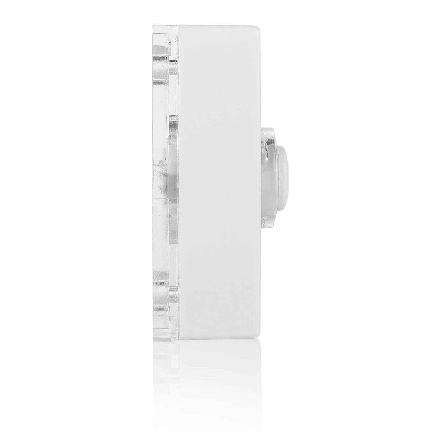 White Illuminated push button Byron 7730 wired bell push