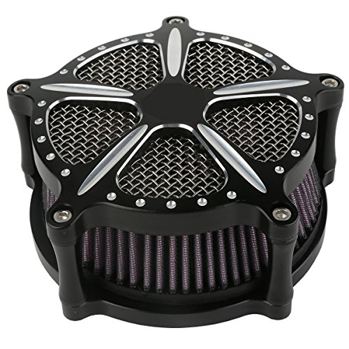 XMT-MOTO Speed-5 CNC Deep Cut Air Cleaner Filter For Harley Touring FLHR FLHT FLHX 2008-2016 by XMT-MOTO (Image #2)'