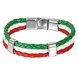 Italy Spain Soccer Fan Charm Wristband%2