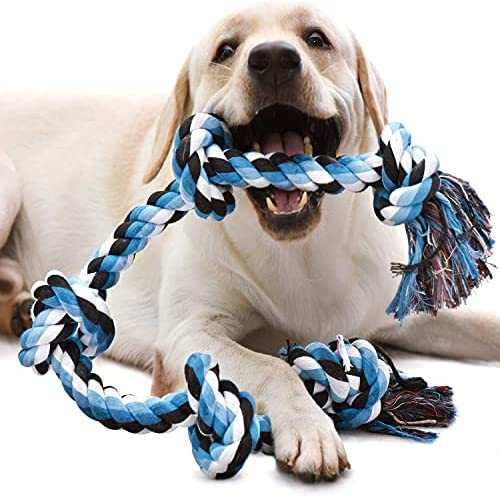 QIANLIA Dog Toys, XXL 36inch Dog Rope Toys for Strong Large Aggressive Chewer Dogs,Durable Dog Chew Training Toys Rope Tug for Aggressive Chewers, Interactive Rope Chew Toys to Large Dog Breeds