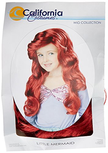 Little Mermaid Wig (Red) Child (Childrens Dress Up Wigs)