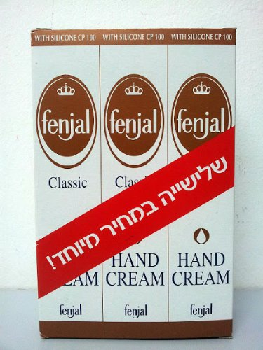 Fenjal Classic (Pack of 3) Silicone Cp 100 Hand Cream Women Nail Cream Lotion