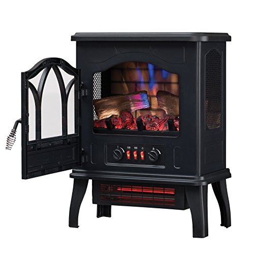 Duraflame DFI-470-04 Infrared Quartz Fireplace Stove, Black by Duraflame Electric (Image #2)