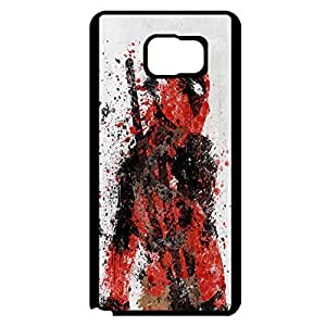 Samsung Galaxy Note 5 Comic Deadpool Case Cover,Fashion Art Colorful Painting DC Comic Mercenary Deadpool Phone Case Cover Rugged Skin Protective Shell for Samsung Galaxy Note 5