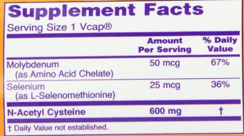 NOW Foods Nac-Acetyl Cysteine 600mg, 250 Vcaps (Pack of 5)