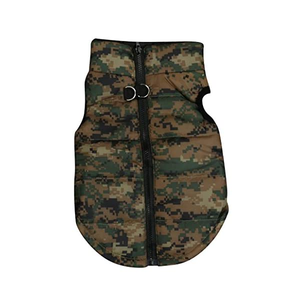 Howstar Pet Camouflage Cold Weather Coat, Small Dog Vest Harness Puppy Winter Padded Outfit Warm Garment (XXS, Camouflage)