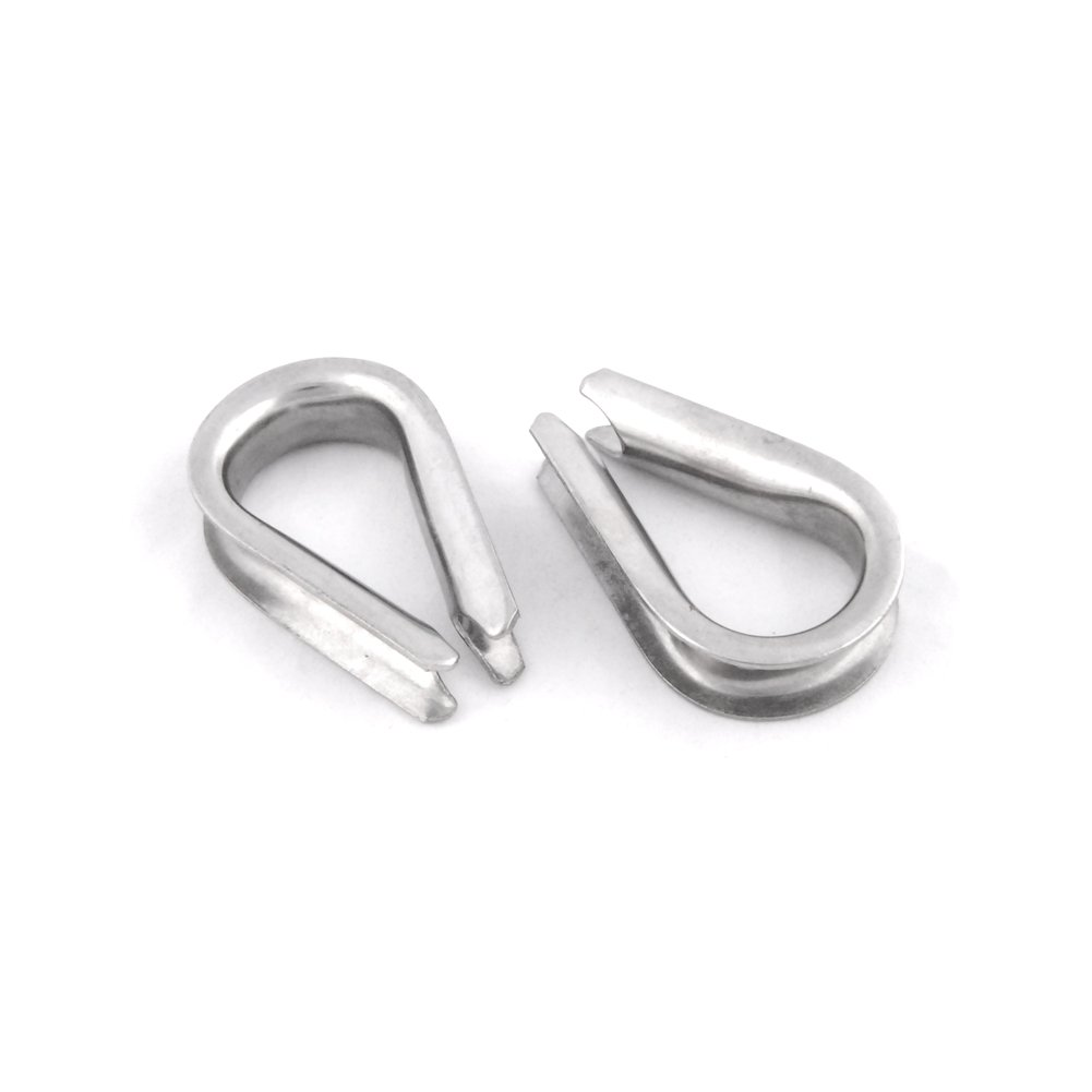 10pcs Thimbles European Commercial Stainless Steel Wire Rope Hardware FET014-12