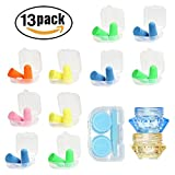 Earplugs Sleep Sleeping Earplugs, with Present Cream Box Contact Lens Case by XXMING