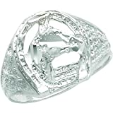 Sterling Silver Horse Ring Size 12