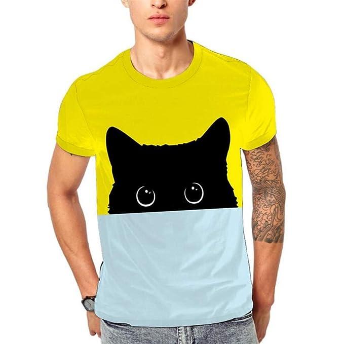 Camiseta de Manga Corta con Estampado de Cabeza Animal Moon Planet 3D de Moda para Hombre T-Shirt Brasil Sudadera Chandal Casual Tank Tops Deportiva Camisas ...