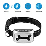 Bark Collar [2018 Smart Chip] Dog Shock Anti-Barking Collar with Beep, Vibration and Harmless Shock. No Bark Control for Small/Medium/Large Dogs with 7 Sensitivity Levels, Rechargeable and Rainproof For Sale