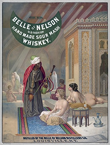 Whiskey Advertisement - Advertisement Whiskey Nan American Advertisement For Old Fashioned Kentucky Whiskey Showing A Turkish Harem Of Nude Women C1888 Poster Print by (24 x 36)