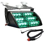 Bigoneshop 18X LED Strobe Emergency Vehicle Warning Flashing Satety Lights Bar for Visor Dashboard Deck Grille Dash 12V