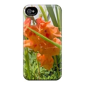 New LHK2371DGRP Orange Gladiolus Skin Case Cover Shatterproof Case For Iphone 4/4s