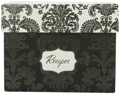 Wedding Invitations Black Damask - Hortense B. Hewitt Wedding Accessories Damask Recipe Box Bridal Shower Invitation Gift Set