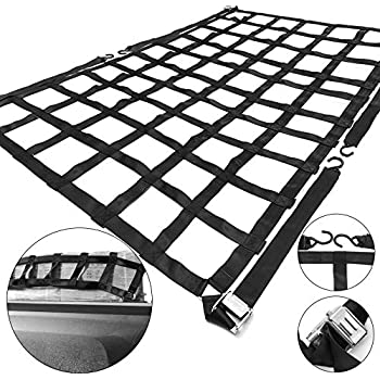 Amazon Com 82x82 Heavy Duty Cargo Net With Ratchets And Spring E