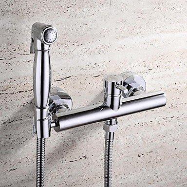 YanCui@ HPB Contemporary Chrome Finish Brass Bidet Faucet by YanCui Sink Faucets