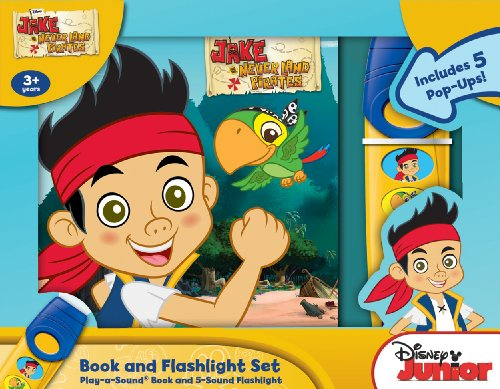 Disney Jake and the Neverland Pirates: Book and Flashlight Set (Novelty Sports Light Lights Set)