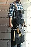 Mens Waxed Apron Canvas Shop Working Aprons with