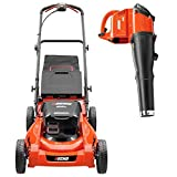 ECHO 21 in. 58-Volt Lithium-Ion Cordless Lawn Mower with Blower Combo Kit - 4.0 Ah Battery and Charger Included