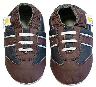 Amazon.com | Ministar Boys Baby Infant Toddler Prewalker Leather ...