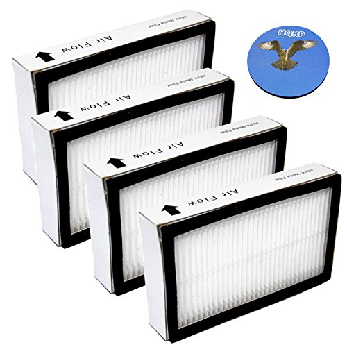 HQRP Exhaust Filter 4-Pack for Panasonic AC38KBRMZ000 fits MC-CG901 MC-CG902 MC-CG973 MC-GG773 MC-UG471 MC-UL975 MC-V7721 Vac Vacuum Cleaner + HQRP Coaster by HQRP