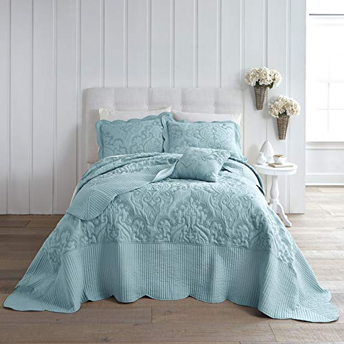 BrylaneHome Amelia Bedspread - Seaglass, Queen from BrylaneHome