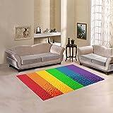Happy More Custom Striped Rainbow Pride Flag Area Rug Indoor/Outdoor Decorative Floor Rug Review
