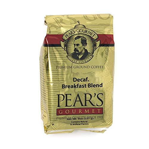 Decaf 8 Oz Gourmet Coffee - Pear's Gourmet Breakfast Blend Decaf Ground Coffee, 8 ounces