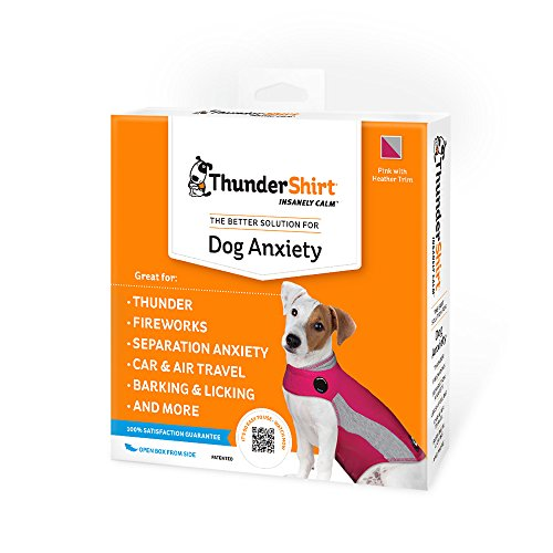 ThunderShirt Polo Dog Anxiety Jacket | Vet Recommended Calming Solution Vest for Fireworks, Thunder, Travel, & Separation | Pink, Small