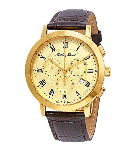 Mathey-Tissot Sport Classic Chronograph Gold Dial Mens Watch H9315CHRLPDI