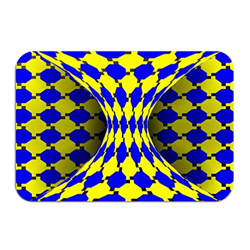 WiNjTyMOYO Carpet Rug Door mat Illusion Optical d Art Rotation Dynamic Effect Swirl delusion Endless Fallacy Geometric Magic Background 16 24 inch
