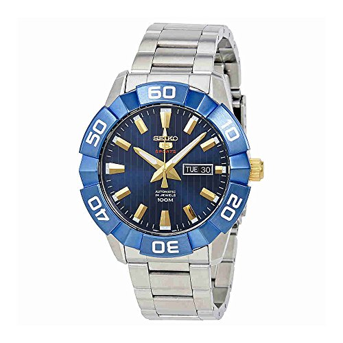 Seiko-5-Sports-SRPA53-Mens-Stainless-Steel-Orange-Dial-100M-Automatic-Watch